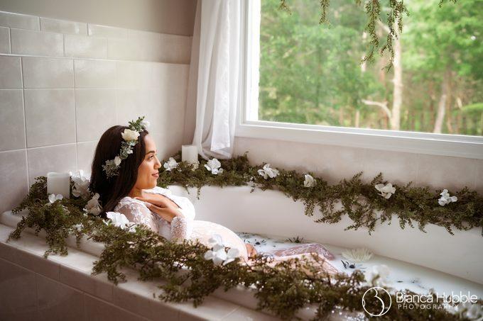 Lilburn GA Maternity Milk Bath Photographer