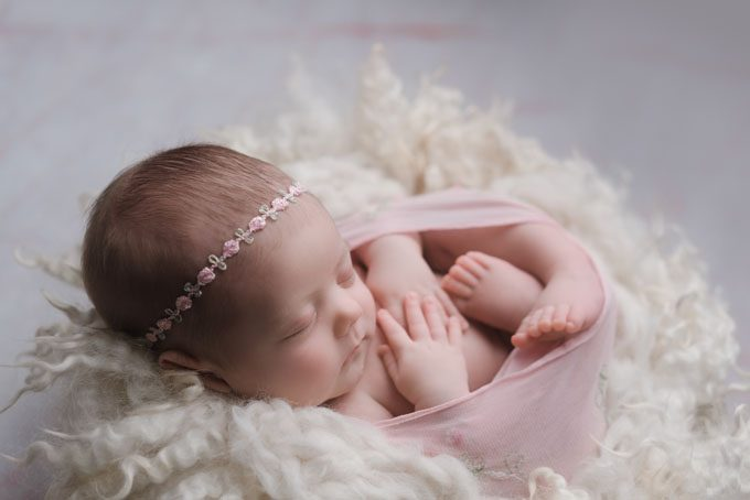 Swaddled Newborn Baby Photograph in Athens GA